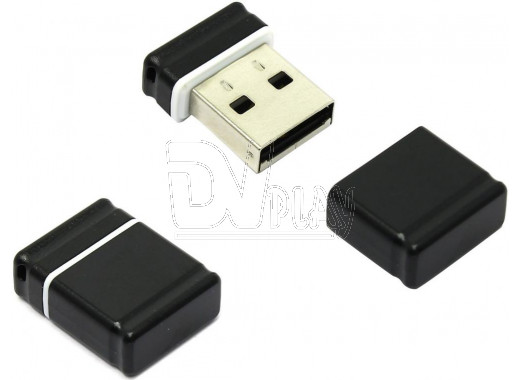 USB Flash 4Gb Qumo Nano черная