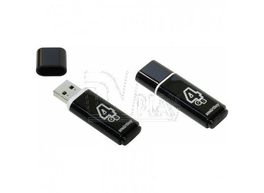 USB Flash 4Gb Smart Buy Glossy черная