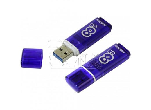 USB Flash 8Gb Smart Buy Glossy темно-синяя 3.0