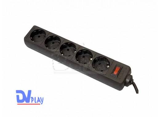 Сетевой фильтр ES (5 розеток, 3 м) черный