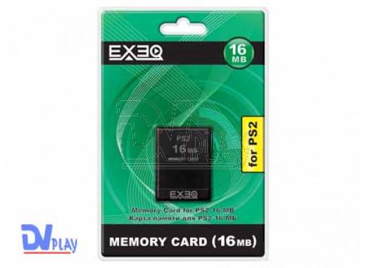 Карта памяти PS2 16Mb EXEQ