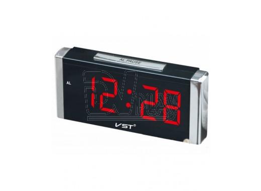 VST 731-1 часы настольные с красными цифрами