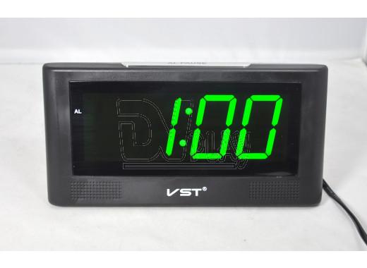 VST 732-4 часы настольные с ярко-зелеными цифрами