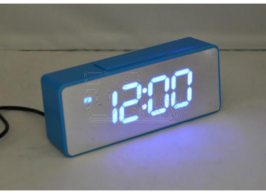 VST 886Y-5 часы настольные с ярко-синими цифрами