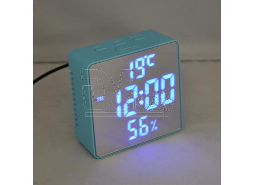 VST 887Y-5 часы настольные с ярко-синими цифрами