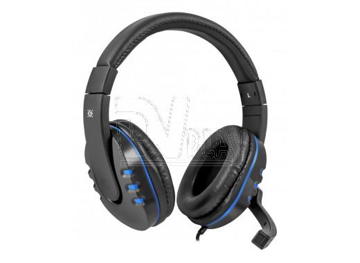 Defender Warhead G-160 гарнитура игровая черно-синяя
