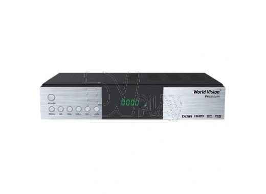 World Vision Premium DVB-T2/C (Dolby Digital) с дисплеем + кабель HDMI, 3RCA