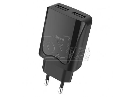 Зарядное устройство 2 USB 2.1A Hoco. C52A
