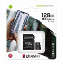 microSD 128Gb Kingston Class 10 A1 (100 Mb/s) с адаптером