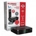 Цифровой ресивер LUMAX 2104HD с дисплеем + кабель 3RCA, WI-FI и Кинозал