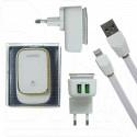 Зарядное устройство 2 USB 2.4A LDNIO A2205 + кабель Lightning