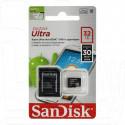 microSDHC 32Gb Sandisk Class 10 Ultra с адаптером