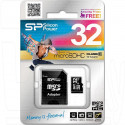 microSDHC 32Gb Silicon Power Class 10 с адаптером