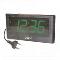 VST 732-2 часы настольные с зелеными цифрами