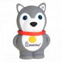 USB Flash 16Gb Smart Buy Wild Series Dog Grey