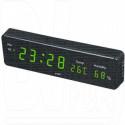 Часы электронные VST 805-S-4 настенные (часы,термометр) ярко-зеленый