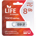 USB Flash 8Gb Life Tokyo белая