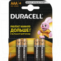 Duracell LR03 AAA BP4 упаковка 4шт