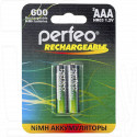 Аккумуляторы Perfeo HR03 600mAh NiMH BL2 AAA в упаковке 2 шт