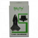 Автомобильная зарядка на 2 USB/3 A + переходник microUSB/miniUSB/iPhone