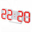 Часы-будильник Perfeo PF-663 Luminous (белый корпус, красные цифры)