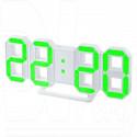 Часы-будильник Perfeo PF-663 Luminous (белый корпус, зеленые цифры)