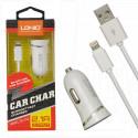 Автомобильная зарядка LDNIO DL-C12 с кабелем Lightning
