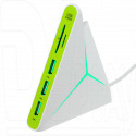 CARD READER USB Perfeo PF-HYD-8029H-G + USB HUB (3 порта)