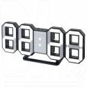 Часы-будильник Perfeo PF-663 Luminous (черный корпус, белые цифры)
