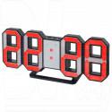 Часы-будильник Perfeo PF-663 Luminous (черный корпус, красная подсветка)