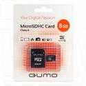 microSD 8Gb Qumo с адаптером