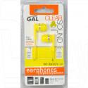 Наушники GAL M-005Y-F желтые