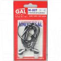 Наушники GAL M-007 бело-черные