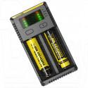 Зарядное устройство для 2-х аккумуляторов Nitecore i2 (18650, 26650 и др)