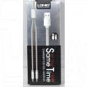 Кабель USB A - 2 in 1 (micro USB, iPhone 5) (1,1 м) LDNIO LC86
