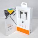 Кабель USB A - micro USB B (1 м) LDNIO LS421 серый угловой
