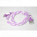 Кабель USB A - micro USB B (1 м) силиконовый