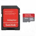 microSDHC 16Gb Sandisk Class 10 Ultra с адаптером