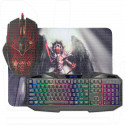 Комплект Defender Anger MKP-019 (клавиатура + мышь + коврик)