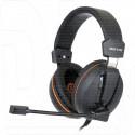 Gembird MHS-G100 гарнитура игровая черно-оранжевая
