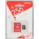 microSD 256Gb Smart Buy Class 10 UHS-I с адаптером