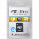 microSDHC 16Gb OltraMax Class 10 с адаптером
