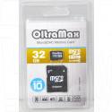 microSDHC 32Gb OltraMax Class 10 с адаптером