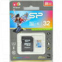 microSDHC 32Gb Silicon Power Class 10 Elite с адаптером
