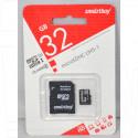 microSDHC 32Gb Smart Buy Class 10 UHS-I с адаптером