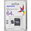 microSDHC 64Gb A-Data Class 10 Premier UHS-I с адаптером