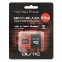 microSDHC 64Gb Qumo Class 10 Ultra UHS-I с адаптером