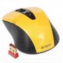 Мышь беспроводная A4Tech G9-370-3 желтая