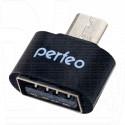 Переходник Perfeo PF-VI-O003 microUSB (M) - USB (F) OTG черный