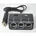 Разветвитель автомобильной розетки 1506A (2 USB)